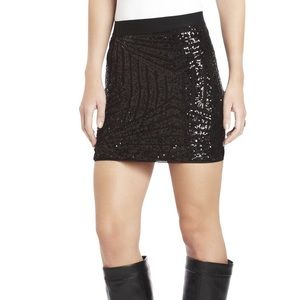BCBGMAXAZRIA Paxton Sequin Mini Skirt